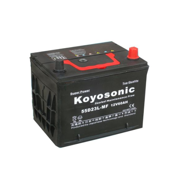 Rechargeable SLA Maintenance Free Car Battery 12V 60ah Battery for Auto Car 55D26r-Mf Starting Automotive Vehicle