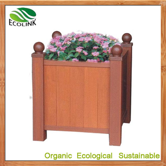 Wood Plastic Composites Outdoor Flowerpot Flower Planter for Garden Decoration pictures & photos