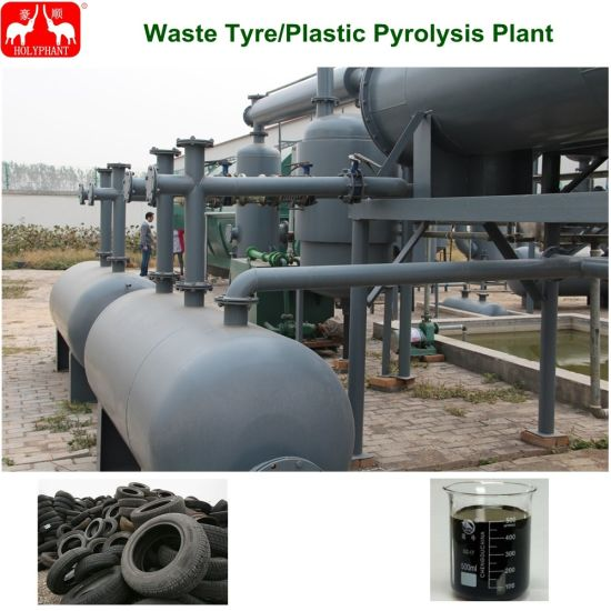 China Tire Pyrolysis Plant/Waste Plastic Tire Recycling