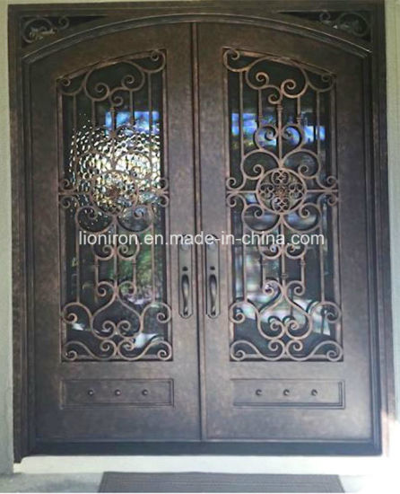 2018 Best Quality Steel Front Door Double Iron Entry