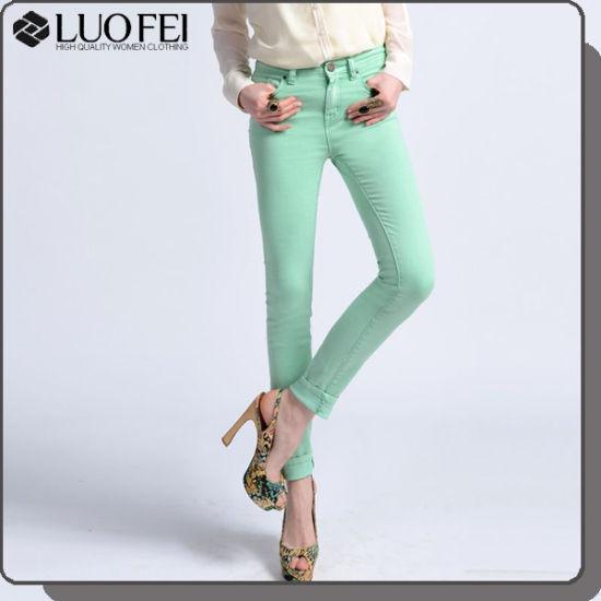 China High Quality Classic Women Five Pockect Cotton Twill Pant ... 0a81e171a89
