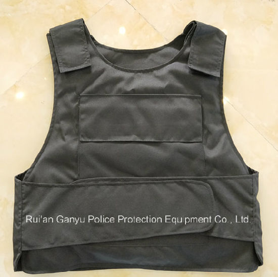 Black Police Stab Resistant Vest