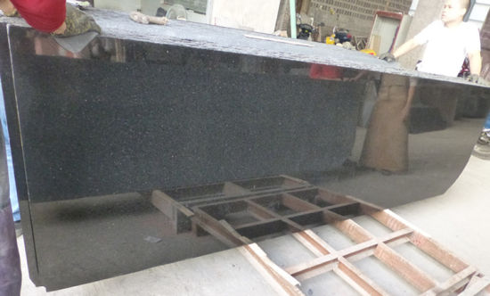 Black Granite Slab Black Galaxy Granite pictures & photos