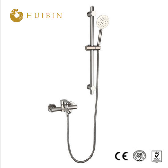 Popular Chrome Plated Stainless Steel Waterfall Shower Set Bathroom Shower with Sliding Bar