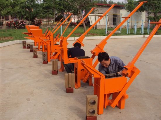 Manual Clay Brick Making Machine (QTJ2-40) pictures & photos