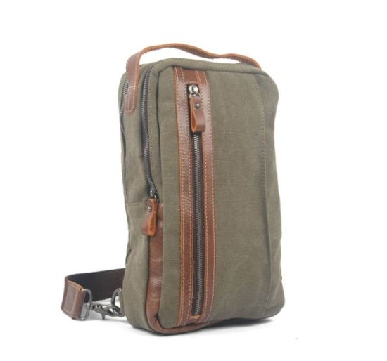 Guangzhou Factory Leather Canvas Fabric Chest Bags (RS-8580C)