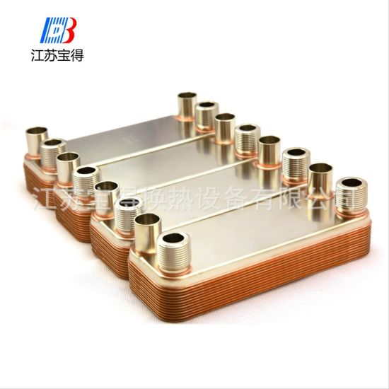 High Heat Transfer Nickel Brazed Plate Heat Exchanger for Hot Water Heater pictures & photos