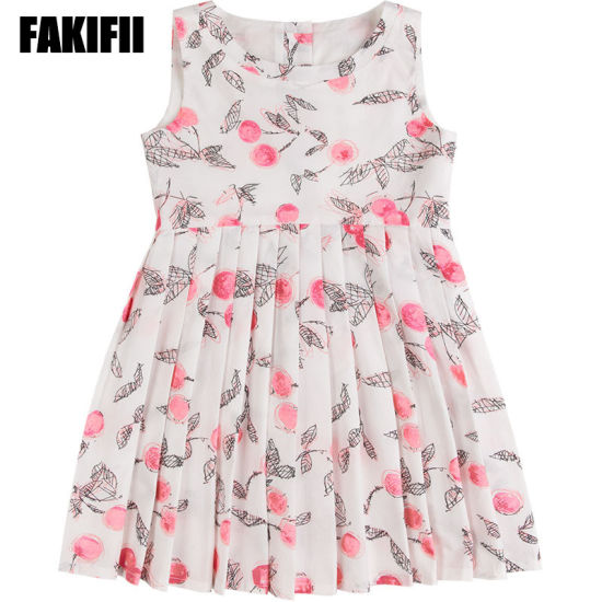 949994097b7 2019 Spring Factory Customised Baby Wear Children Clothing Girl Cotton  Berry Print Dress Designer Kids Apparel. Get Latest Price