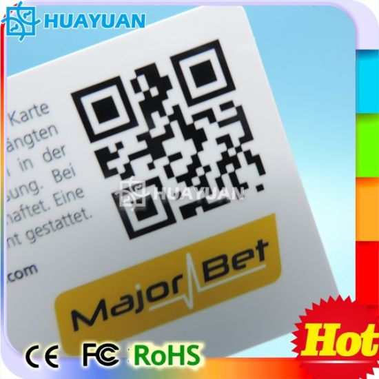 HUAYUAN QR Printing MIFARE Classic EV1 1K RFID Smart Card pictures & photos