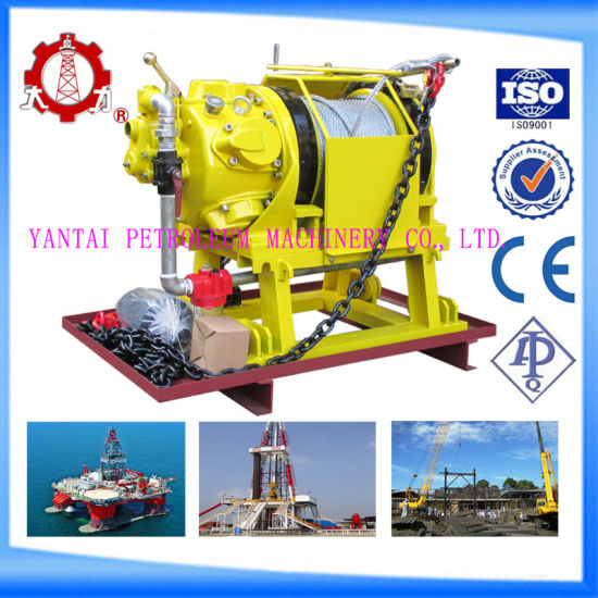 ABS/Cce Certified 5t Air Pulling Winch with Large Cable Storage and Pulling Force for Coal Minings pictures & photos