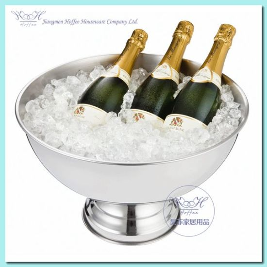 China Stainless Steel Champagne Bucket Wine Cooler Bucket Wine Chiller China Ice Bucket And Champagne Cooler Bucket Price