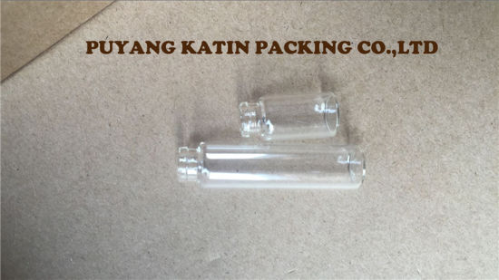 15X22 Screwed Clear Glass Vials