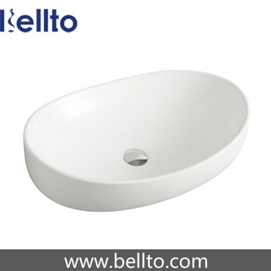 China Wholesale Oval Ceramic bathroom lavatory sink for bath ...