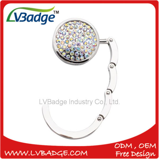 Custom Metal Foldable Crystal Bag Hanger pictures & photos