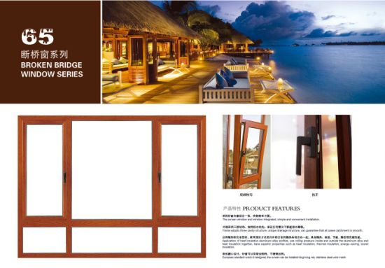 Commercial Building Reflective Tempered Glass Aluminum Top-Hung Window/ Awning Window
