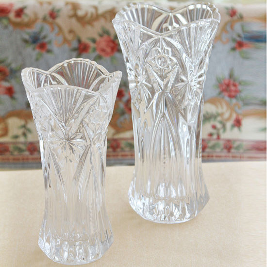 China Home Wedding Decor European Tall Crystal Vase Floral Style