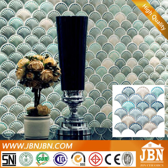 Irregular Rainbow Color Luster Glass Ceramic Mosaic (C655069)