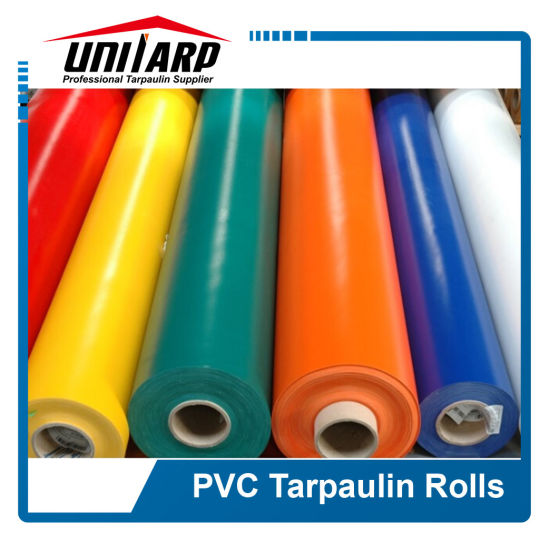 610GSM Heavy Matel Free PVC Kinfe Coated Tarpaulin Material for Bouncy Castle