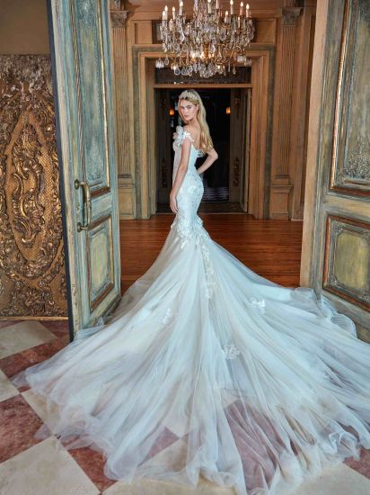 Mermaid Bridal Gowns Mermaid Sleeves Custom Made Tony Wedding Dress Gv20178 pictures & photos