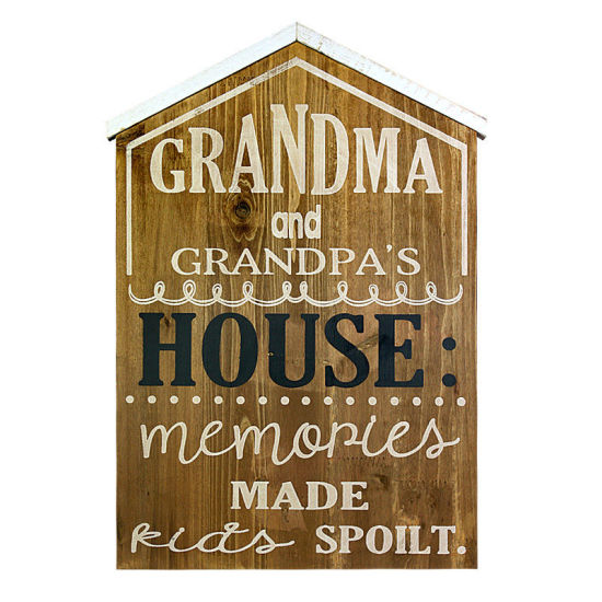 Grandma House Wooden Wall Art Hanging Plaque Board Wood Home Decoration