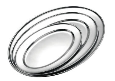 Stainless Steel Oval Meat Plate for Hotel Buffet & Restaurant (1560311)
