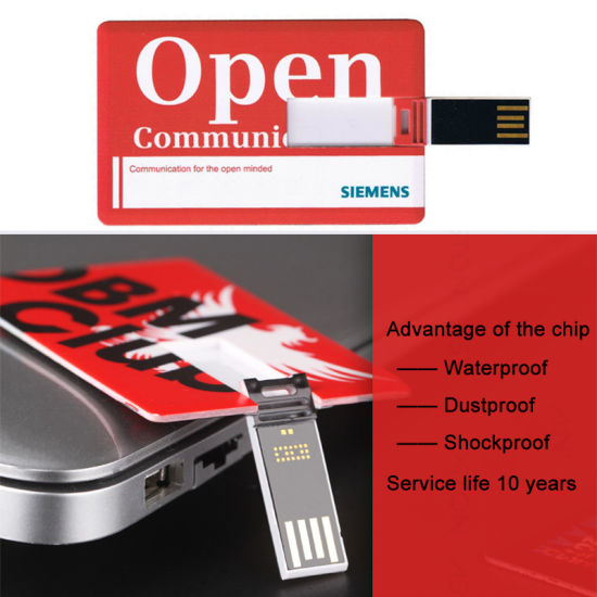 Profotional Gifts Business Card USB Flash Drive, Credit Card USB, Credit Card USB Flash Pen Drive 2GB 4GB 8GB 16GB pictures & photos
