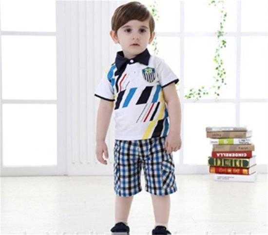 9c75d96f227 Summer New Baby Boy Infant Cotton Short-Sleeved Two Piece T-Shirt Suit  pictures
