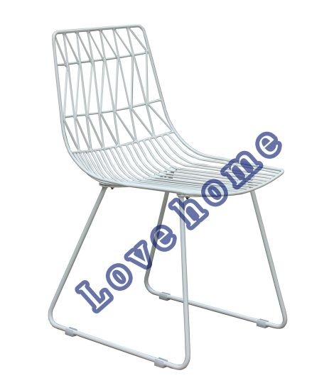 Modern Classic Restaurant Furniture Metal Dining Bend Side Wire Chair