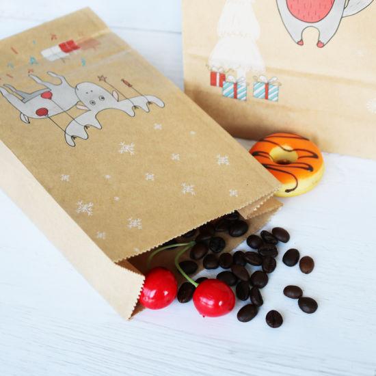 China Christmas Kraft Paper Bag Fox Moose Snowflake Gift Paper Bag