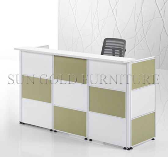China Wooden Furniture Office Counter Table Design Small Reception