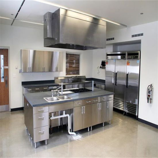 Customized Stainless Steel Commercial Kitchen Cabinets pictures & photos