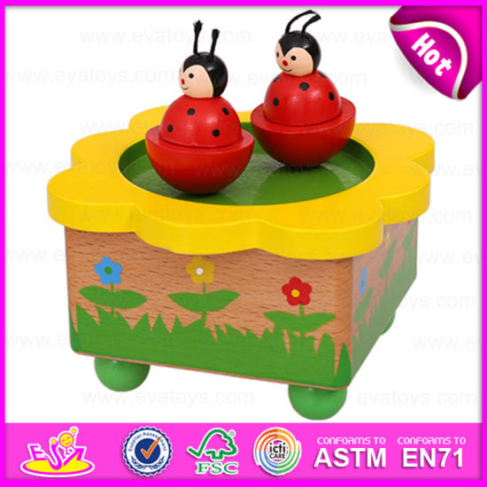 Wholesale Decorative Wooden Carousel Music Box for Kids, Best Selling Beautiful Carousel Wooden Music Toy W07b027