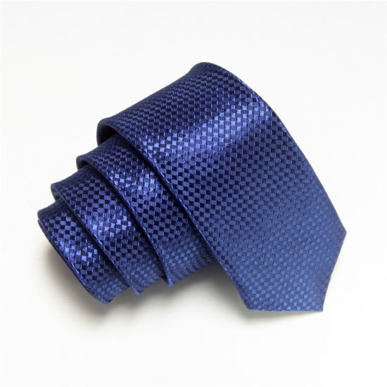 Men Fashion Plaid Design Narrow Polyester Tie (WH07) pictures & photos