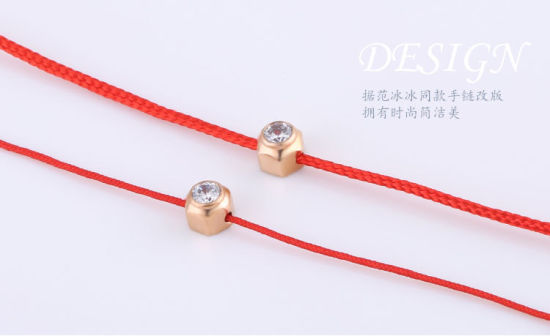 Stainless Steel Bracelet Fashion Jewelry Diamond Bracelet Red String Bracelet pictures & photos