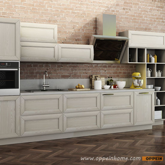 China Oppein Italy Design Transitional Natural Ash Solid Wood Kitchen Cabinet Op14 106 China Kitchen Cabinet Solid Wood Kitchen Cabinet