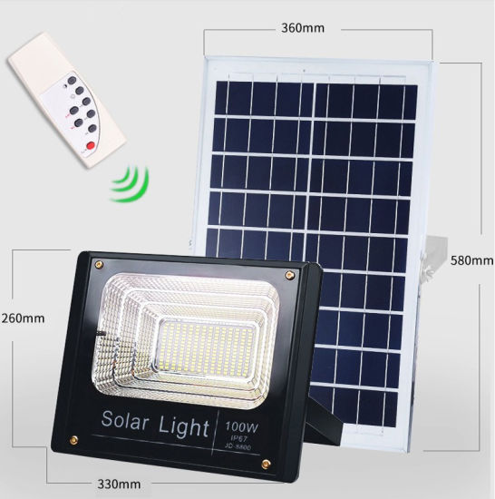 Solar 196 LED Light Solar Flood Lamp Garden LED 100W Solar Light Advisement  Solar Light