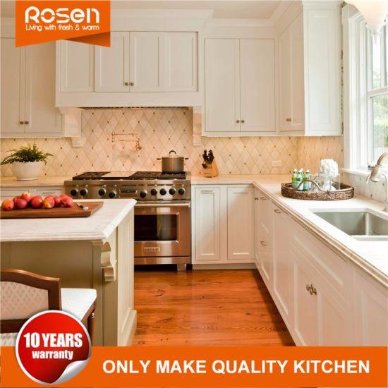 Chinese Wholesale White L Shape Kitchen Cabinet Kitchen Furniture