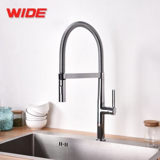 China Manufacturer UK/ European Faucets for Kitchen with Spring Spout pictures & photos