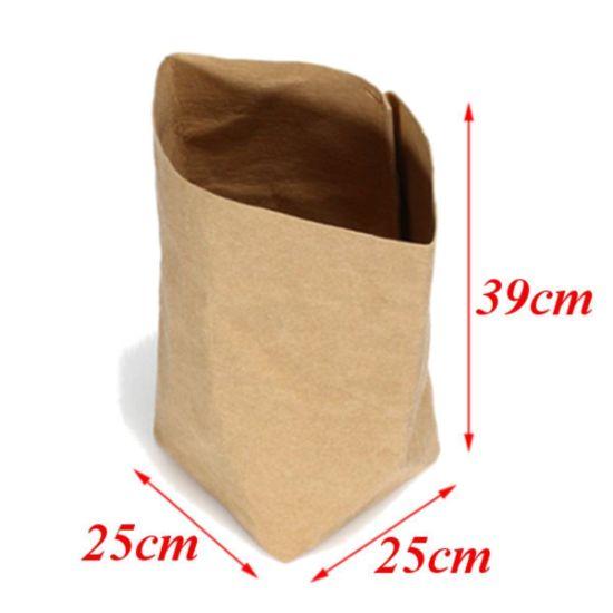 Waterproof Kraft Paper Desk Storage Bag, Storage Case, Gift Box
