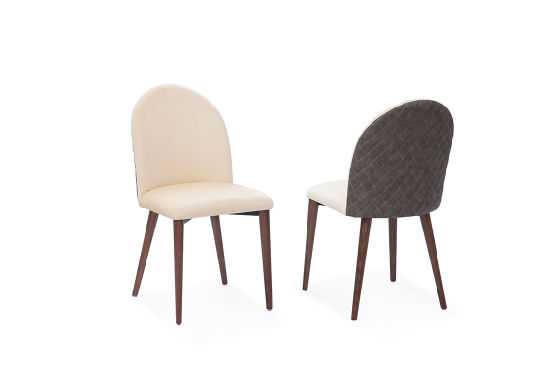 Wholesale New Design Modern Metal Fabric Dining Chair