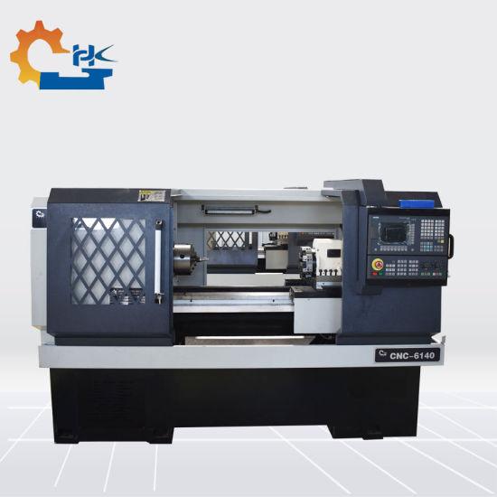 China Swiss Type Flat Bed CNC Lathe Machine with Fanuc