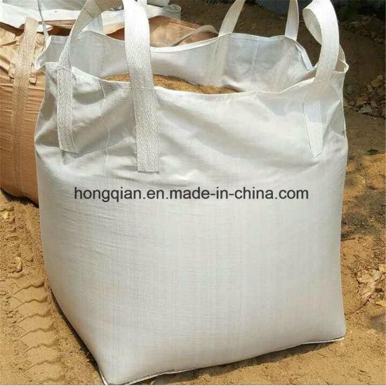 China 1000kg One Ton Pp Woven Bulk Fibc Jumbo Container Sand Super Sacks Cement Bag Supply