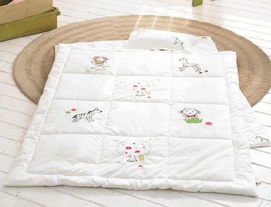 China Organic Cotton Baby Quilts Set Baby Products White
