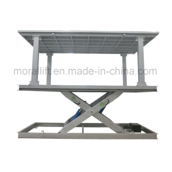 Hydraulic Scissor Car Lift with Covering Roof