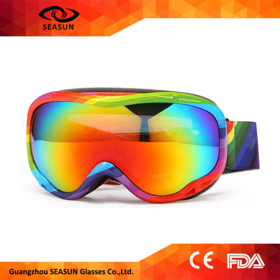 bc1c69845660 Children Ski Goggles Double Lens Optical Compatible 100% UV Anti-Fog  Snowboard Eyewear