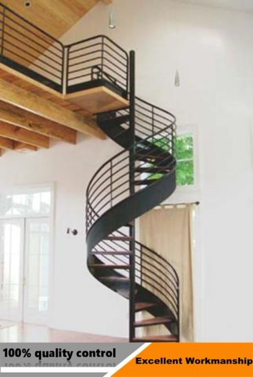 Modern Design Stainless Steel Glass Spiral Staircase