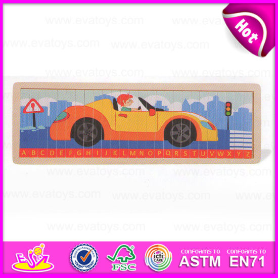China 2015 New Item Wooden Alphabets Train Puzzle Kids Educational