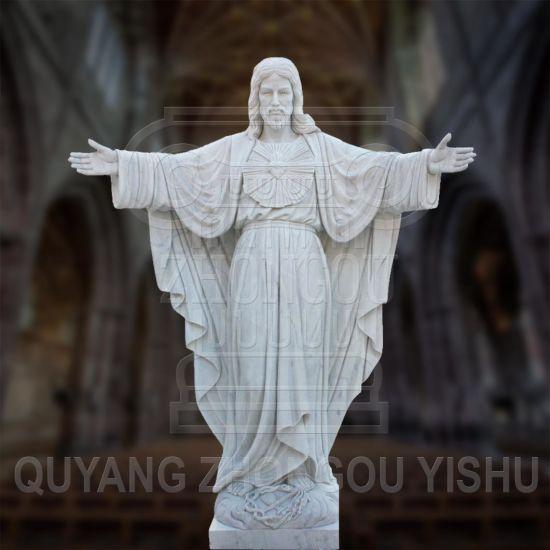 Religious Sculpture Granite Marble Stone Jesus Statue Church Sculpture