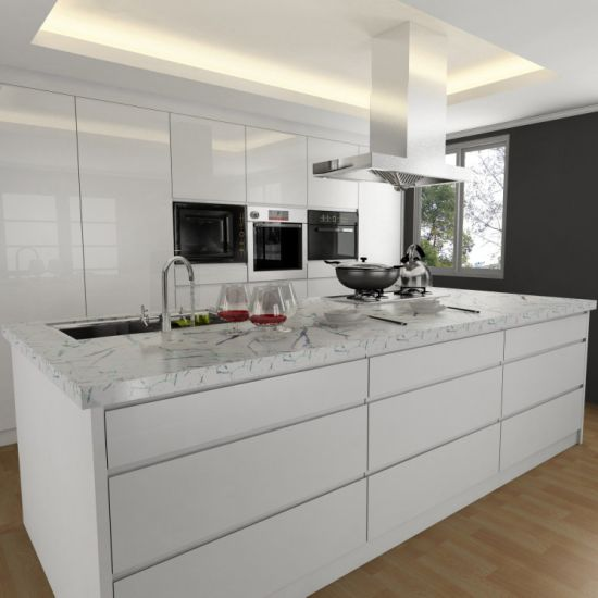 Lacquer Kitchen Cabinet With Flat