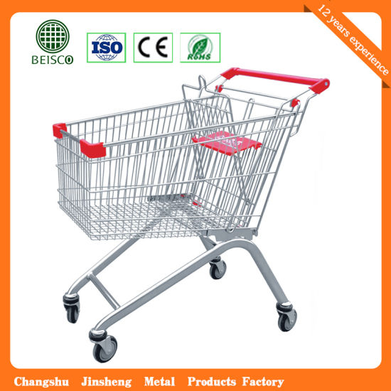 USA Style Supermarket Shopping Trolley Cart Wire 100L NEW Picking Warehouse